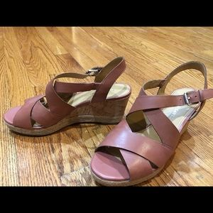 Franco Sarto leather wedge sandal. Great condition